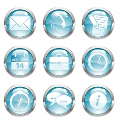 set business gloss button vector image