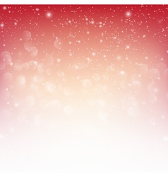 Snow fall with bokeh abstract red background eps10 vector