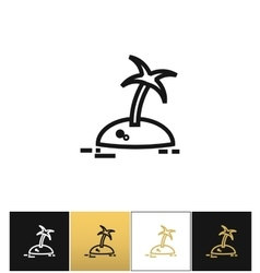 Island with palm tree travel icon vector image