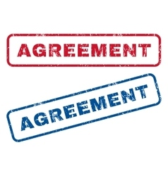 Agreement rubber stamps vector