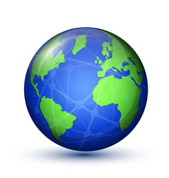 earth planet world map vector image