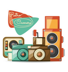 Retro cameras pictures design image vector