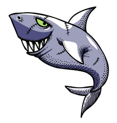 Cartoon image of shark vector