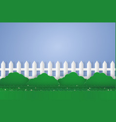 Garden with blank space paper art style vector