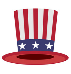 Uncle sam hat symbol of america vector
