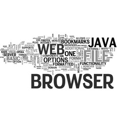 Java web browser text background word cloud vector