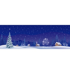 Christmas village banner vector