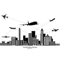 Concept of airplane air craft shipping vector