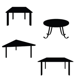 room table black silhouette vector image