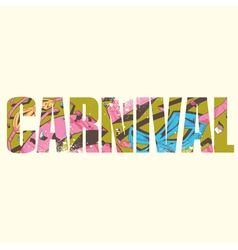 Carnival sign vector