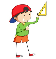 Boy and triangle vector