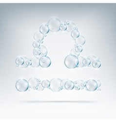 Sign of the zodiac bubble soap vector