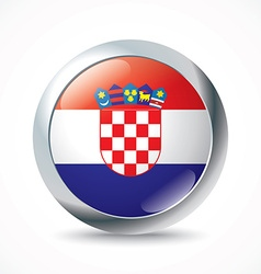 Croatia flag button vector