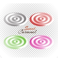 Sweet caramels set design flat vector