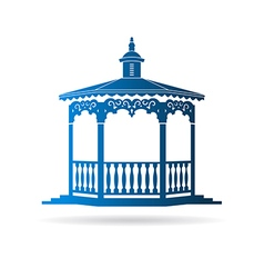 Wedding gazebo vector image