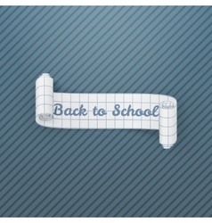 Back to school paper realistic banner vector