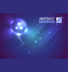 Alien bubble futuristic background vector