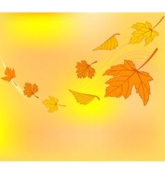 Autumn swirl vector image vector image