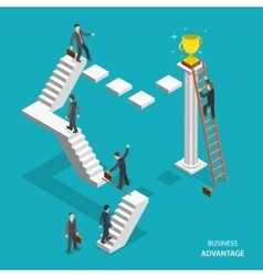 Business advantage isometric flat concept vector