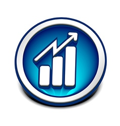 business graph web icon vector image vector image