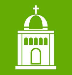 church icon green vector image