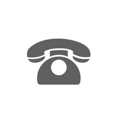 Classic phone icon on a white background vector