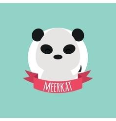 Cute Cartoon meerkat vector image