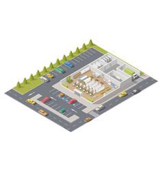 Element infographics representing supermarket in vector