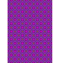 Flowers in rhombuses purple shades vector image