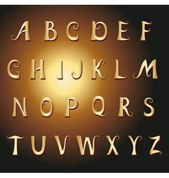 font vintage gold vector image vector image