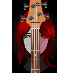 Girl with guitar vector