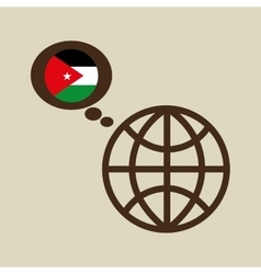Globe sphere flag jordan country button graphic vector