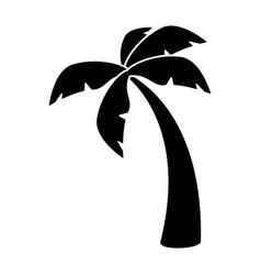 Island tree palms vector