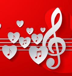 Love music concept design vector