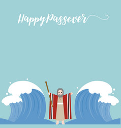 Moses separate sea for passover holiday vector