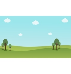 Nature landscape with blue sky backgrounds vector