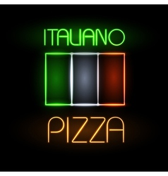 Neon sign pizza vector