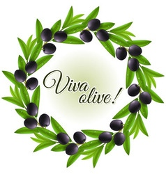 Olive wreath vector image vector image