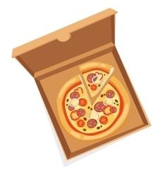 Pizza box vector