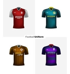 Realistic football uniforms Branding vector image vector image