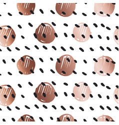 rose gold color abstract circle geometry vector image