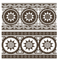 scroll abstract indian pattern vector image vector image