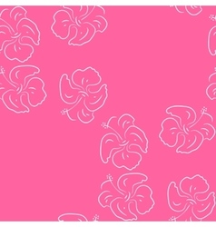 Seamless pattern of hibiscus flowers Pink floral vector image vector image