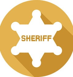 Sheriff Badge Icon vector image