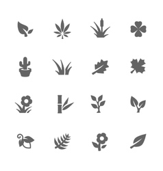 Simple plants icons vector image vector image