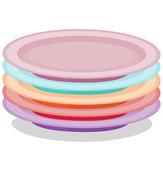 Stack of plates vector image