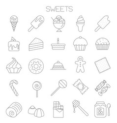 sweets icon set vector image