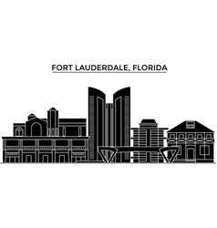 usa fort lauderdale florida architecture vector image
