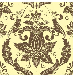vintage damask seamless pattern element vector image vector image