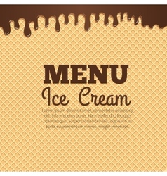 Waffle texture background for cafe menu design vector